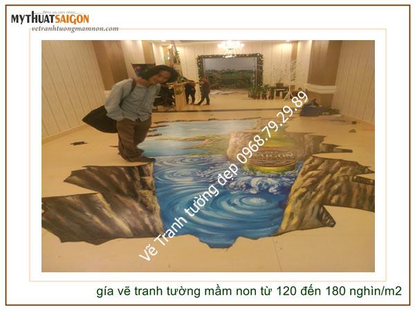 Vẽ tranh tường 3d tại Sài Gòn